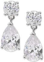 Giani Bernini Cubic Zirconia Pear Drop Earrings in Sterling Silver, Created for Macy's