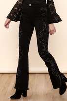 Free People Love Forever Embroidered Flares
