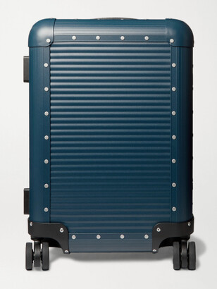 FPM Milano Spinner 53cm Leather-Trimmed Aluminium Carry-On Suitcase - Men - Blue