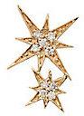 Sydney Evan Double Starburst Diamond Stud Single Earring