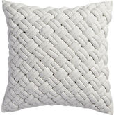 "CB2 Jersey Interknit Ivory 20"" Pillow With Feather Insert"