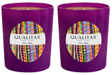 Qualitas Candles Fig Tree Beeswax Candles (Set of 2) (6.5 OZ)
