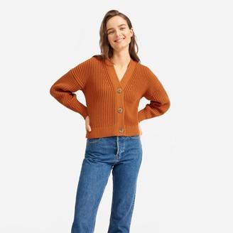 Everlane The Texture Cotton Crop Cardigan