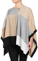 Calvin Klein Plus Colourblock Poncho Sweater