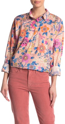 J.Crew Floral Classic Popover Shirt