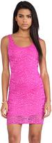 Donna Mizani Passion Lace Scoop Back Dress