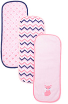 Luvable Friends Pink Foxy Burp Cloth Set