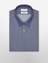 Calvin Klein Steel Slim Fit Non-Iron X-Pattern Dress Shirt