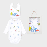 Paul Smith Baby Boys' White Robot And Dinosaur Print Playwear Set