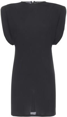 Versace Structured Shoulder Mini Dress