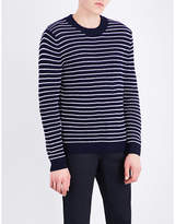 Sandro Striped Knitted Cotton Jumper
