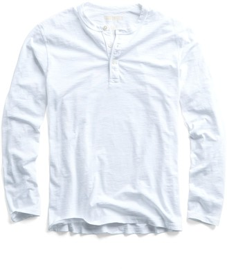 Todd Snyder Made in L.A. Slub Jersey LS Henley in White