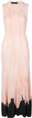 Proenza Schouler Pink And Black Tie-dye Dress