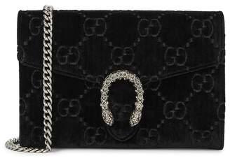 Gucci Dionysus Black Velvet Wallet-on