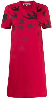 McQ Swallow Swarm-print T-shirt dress