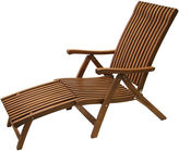 One Kings Lane Adjustable Outdoor Eucalyptus Chaise