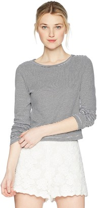 Jack by BB Dakota Junior's Lolo Striped Rib Knit Crop Top