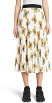 Christopher Kane Women's Flower Print Midi Skirt