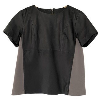 Just Female Black Leather Top for Women