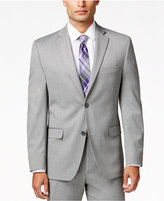 Alfani Men's Traveler Light Grey Solid Slim-Fit Jacket, Created for Macy's