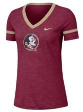 Nike Women's Florida State Seminoles Slub V-neck T-Shirt