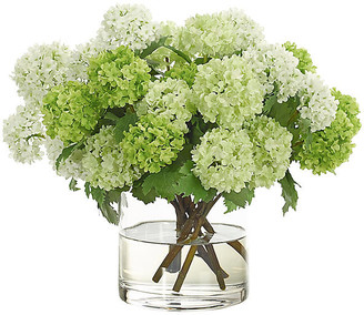 """16"""" Snowball in Cylinder Vase - Faux - NDI"""