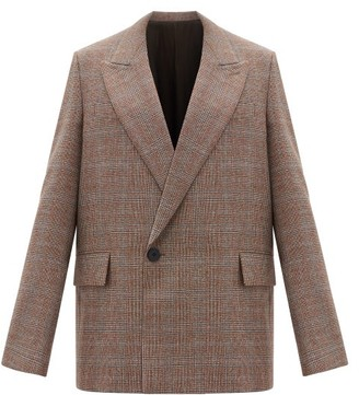Wooyoungmi Double-breasted Houndstooth-wool Jacket - Beige