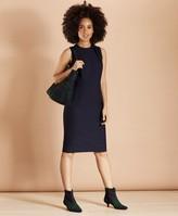 Brooks Brothers Bow-Neck Wool-Blend Twill Sheath Dress