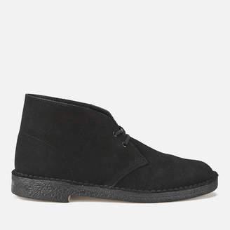 Clarks Men's Desert Boots - Black Suede