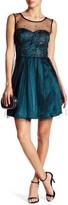 Minuet Mesh Fit & Flare Dress