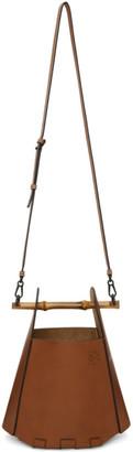 Loewe Tan Bucket Bamboo Bag