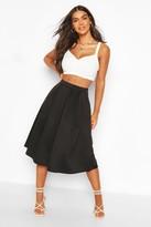 boohoo Beau Box Pleat Midi Skirt