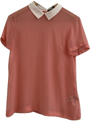 French Connection Pink Silk Top for Women