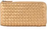 Bottega Veneta zip around interlaced wallet