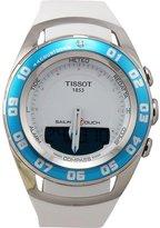Tissot Women's 45mm Rubber Band Steel Case Anti Reflective Sapphire Quartz Watch T0564201701600
