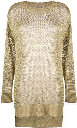 Faith Connexion Fishnet Knitted Jumper