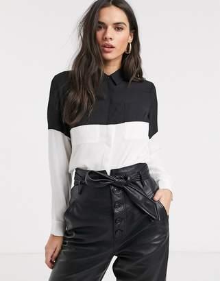Asos Design DESIGN long sleeve colourblock shirt