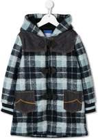 Jacob Cohen Junior plaid duffle coat