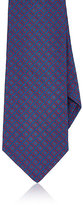 Kiton Men's Medallion-Pattern Silk Necktie