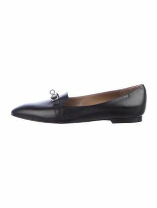 Hermes 2018 Pegase Ballerina Flats Loafers Black