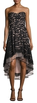 Aidan Mattox Lace Sweetheart High Low Dress