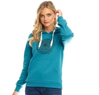 Board Angels Womens Placement Print Hoodie Harbour Blue