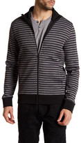 Kenneth Cole New York Long Sleeve Stripe Full Zip Jacket