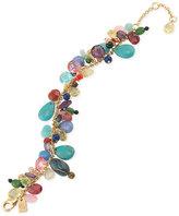 Lauren Ralph Lauren Gold-Tone Multi-Stone Flex Bracelet