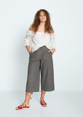 MANGO Violeta BY Openwork off-shoulder blouse white - 10 - Plus sizes