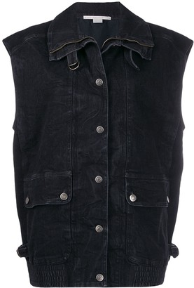 Stella McCartney Oversized Denim Waistcoat