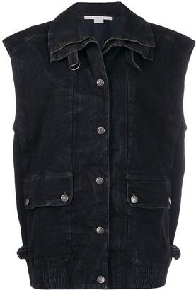 Stella McCartney oversized denim waistcoat
