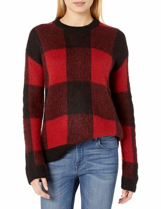 Lucky Brand Women's Brushed Buffalo Check Pullover Sweater