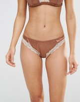 Asos Skye Satin & Lace Thong