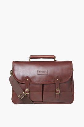Barbour Dark Brown Leather Briefcase